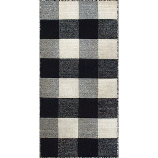Royal Black/White Rug (2 x 4)