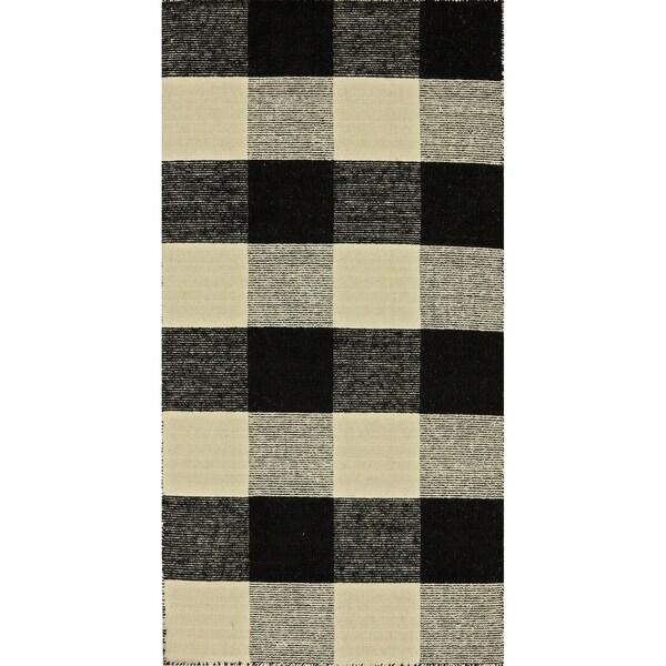 Royal Black/White Rug (2 x 4)