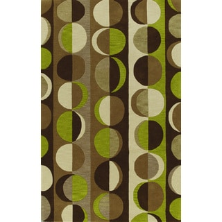 Russet Chocolate Rectangular Wool Rug (8' x 10')
