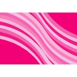 Pink Wave Pink Accent Rug (3'3 x 4'10 )
