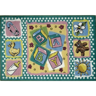 Stacking Blocks Multicolored Accent Rug (3'3 x 4'8 )