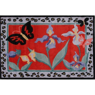 Flowers Multicolored Accent Rug (3'3 x 4'8 )