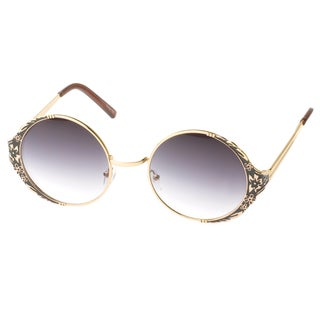 EPIC Eyewear 'Amador' Round Vintage Floral Fashion Sunglasses