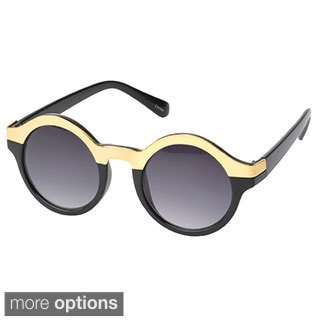 EPIC Eyewear 'Beverly' Metallic-trim Round Fashion Sunglasses