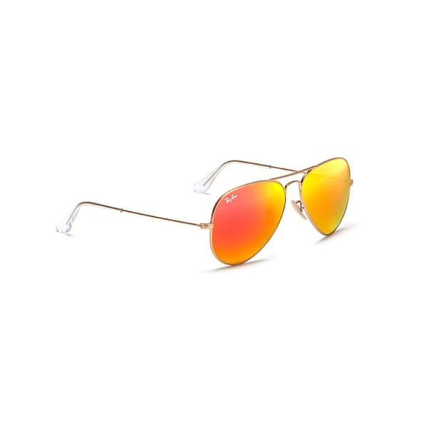 ray ban aviator orange lens