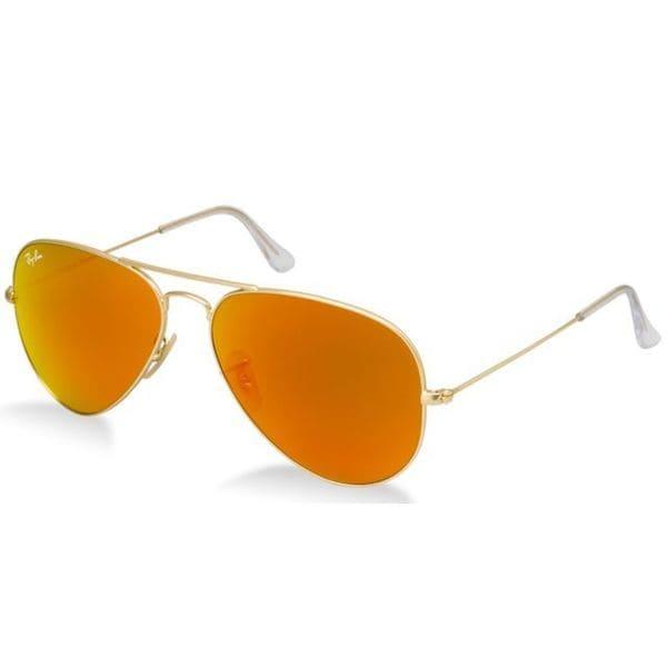 lunette de soleil ray ban orange et bleu