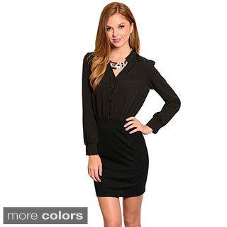 Stanzino Women's Long Sleeve Shirt Dress