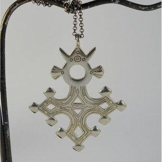 Handmade Agadez Tuareg Cross Pendant Necklace (Indonesia)
