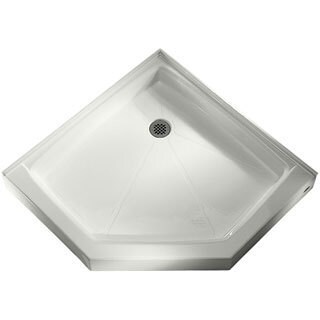 American Standard White Triple Threshold Neo-Angle Shower Base