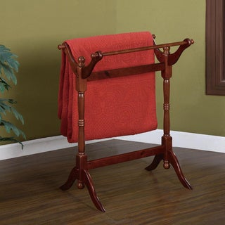 Powell Bordeaux Cherry Blanket Rack