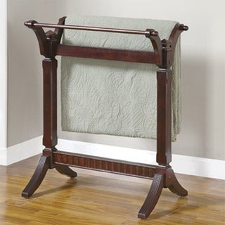 Powell Contemporary Adeline Blanket Rack - over packed
