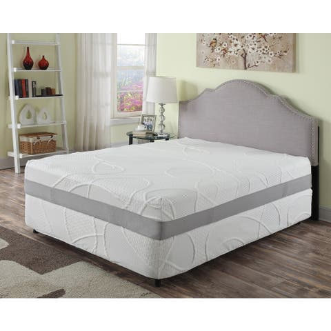 AC Pacific 12-inch Green Tea and Charcoal Memory Foam Mattress