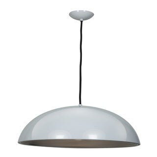 Access Lighting Astro 1-light 19-inch Dome Pendant - White