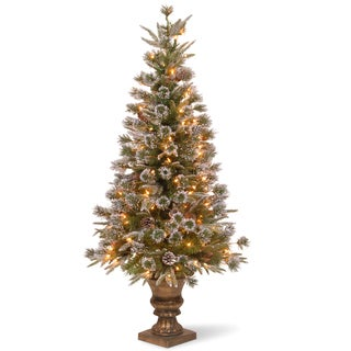 4-foot Liberty Pine Entrance Tree with Clear Lights