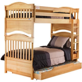 Orbelle Contemporary Bunk Bed Natural Wood