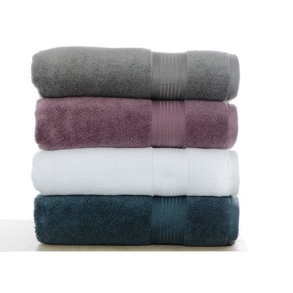 51becfd1 Shop Nicole Miller Astor Micro Cotton 2-piece Bath Towel Set - Free  Shipping On Orders Over $45 - Overstock - 9423635