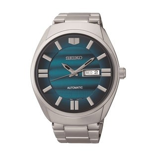 Seiko Men's Stainless Steel Automatic Blue Dial Watch