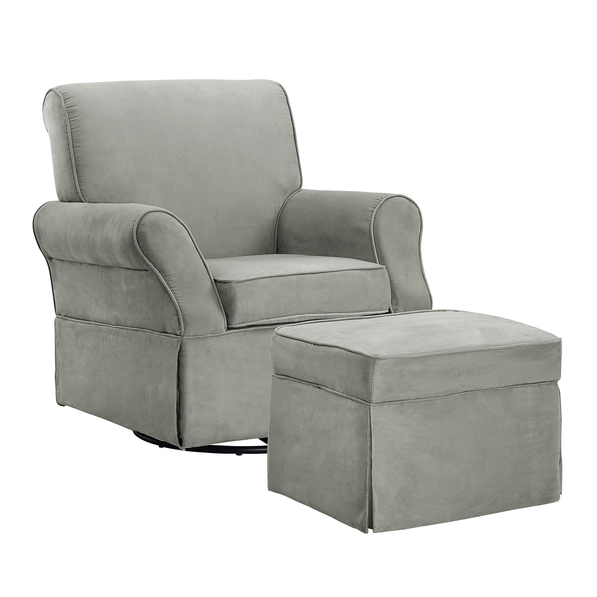 baby relax the kelcie nursery swivel glider chair and ottoman set