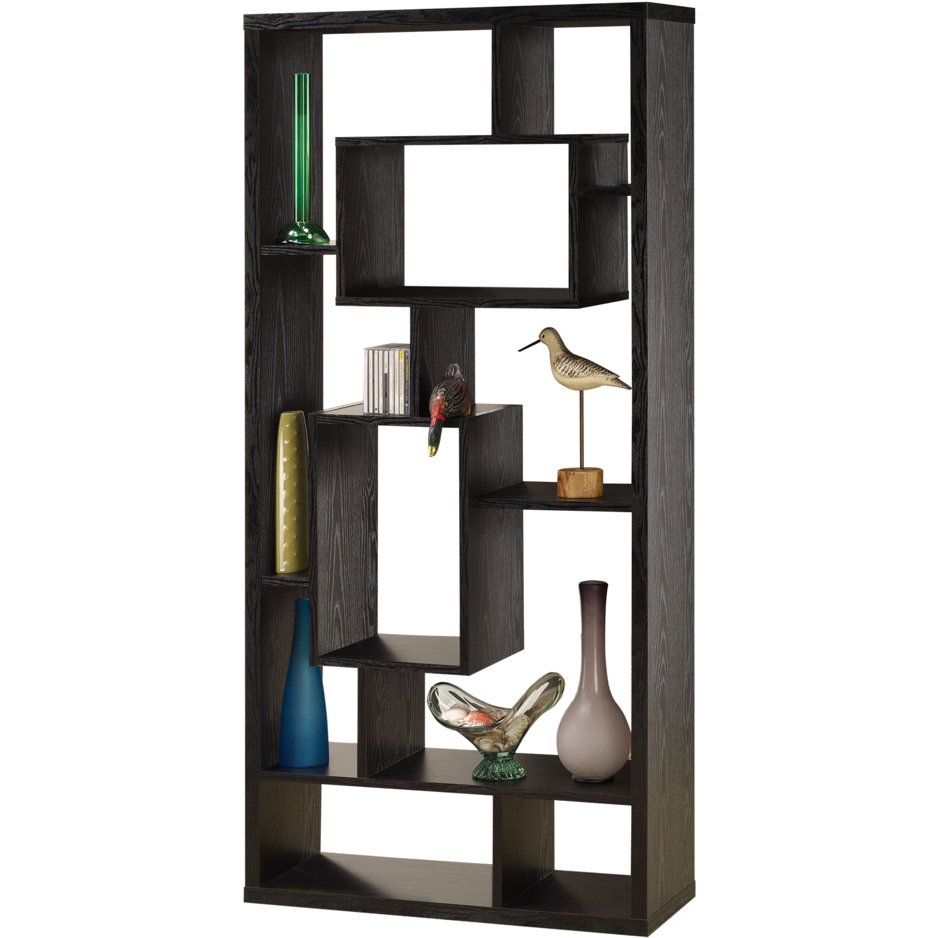 Carson Carrington Gavle Black Interlocking Display Bookshelf