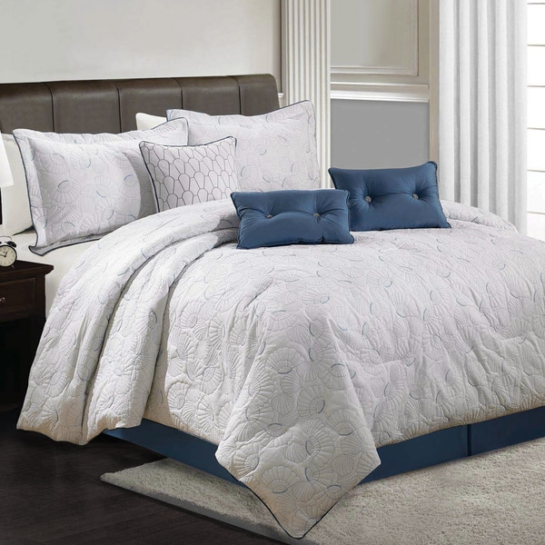 Lauren Taylor - Fanie 7pc Quilted Comforter Set