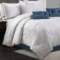 Lauren Taylor Fanie 7-piece Quilted Comforter Set