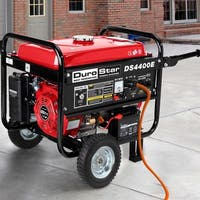 DuroStar 4400 Watt 7.0 HP Air Cooled OHV Gas Generator w/ Electric Start and Wheel Kit