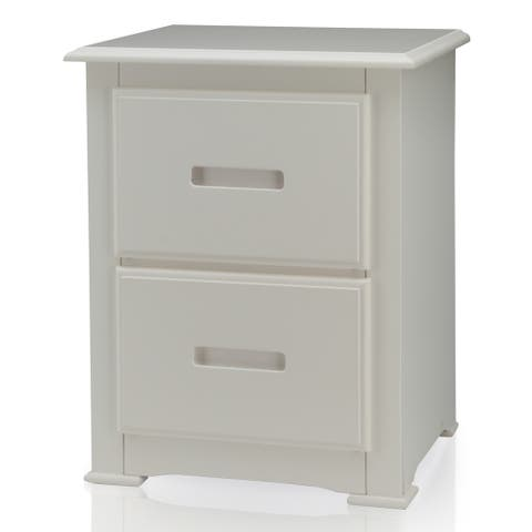 Furniture of America Annetta White 2-Drawer Youth Nightstand
