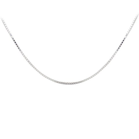 Mondevio High Polish Box Chain Necklace