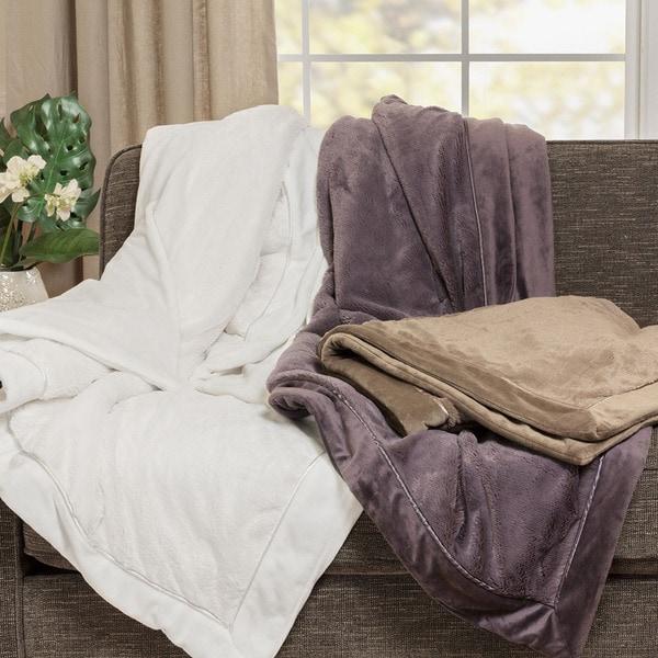 Madison Park Elegance Plush Throw Blanket