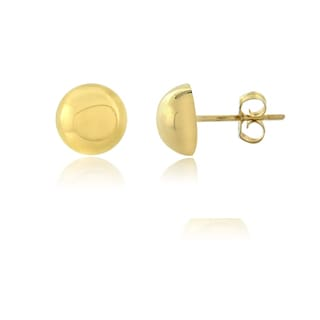 Mondevio 14k Yellow Gold 7mm High Polished Ball Stud Earrings