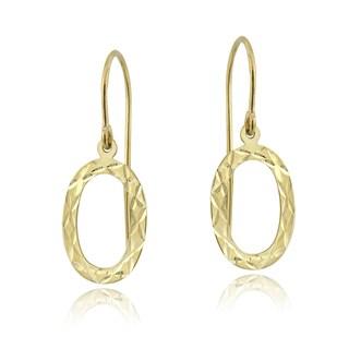 Mondevio 14k Yellow Gold Oval Dangle Earrings