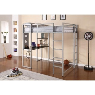 Clay Alder Home Blue Water Abode Full-size Metal Loft Bed - Thumbnail 0
