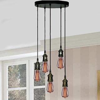 Tanya 5-light Adjustable Cord Edison Lamp with Bulbs