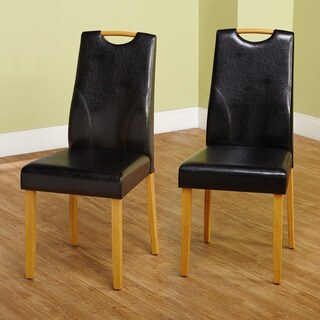 Simple Living Ruben Dining Chair, Black (Set of 2)