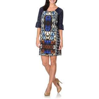 Rabbit Rabbit Rabbit Designs Women's Navy Mosaic Dress