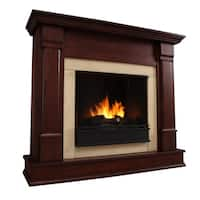 Silverton Gel Fireplace Dk Mahogany by Real Flame