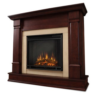 Silverton Electric Fireplace Dk Mahogany by Real Flame