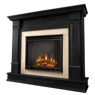 Real Flame G8600E-B Silverton 48 in. L x 13 in. D x 41 in. H Electric Fireplace