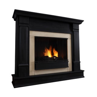 Real Flame Silverton Black 48 in. L x 13 in. D x 41 in. H Gel Fireplace