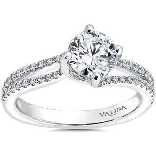 Valina 14k White Gold Round-cut 1 1/12ct White Diamond Bridal Ring Set (F-G, SI1-SI2)