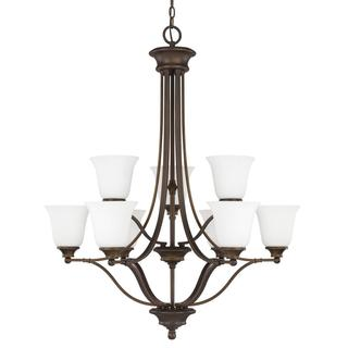 Capital Lighting Belmont Collection 9-light Burnished Bronze Chandelier