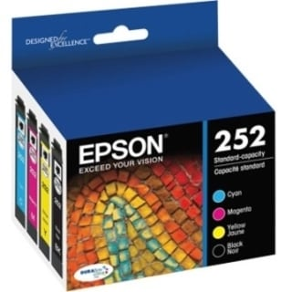Epson DURABrite Ultra Ink T252 Original Ink Cartridge - Cyan, Black,