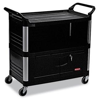 Rubbermaid Commercial Black Xtra 3-shelf Equipment Cart
