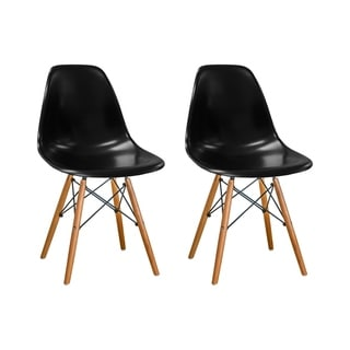 Mod Made Paris Tower Side Chair Wood Leg (Set of 2)