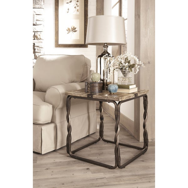 Signature Designs By Ashley Rollins Square End Table: Shop Signature Designs By Ashley Barbourville Square
