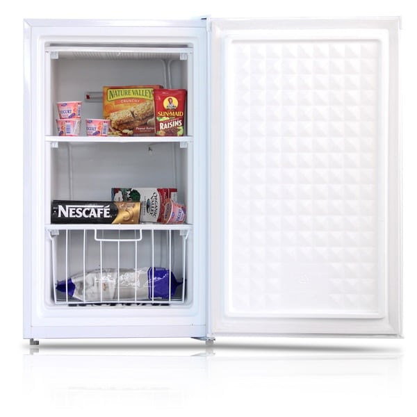 shop midea 3 0 cu ft upright freezer white free shipping today overstock 9424316. Black Bedroom Furniture Sets. Home Design Ideas