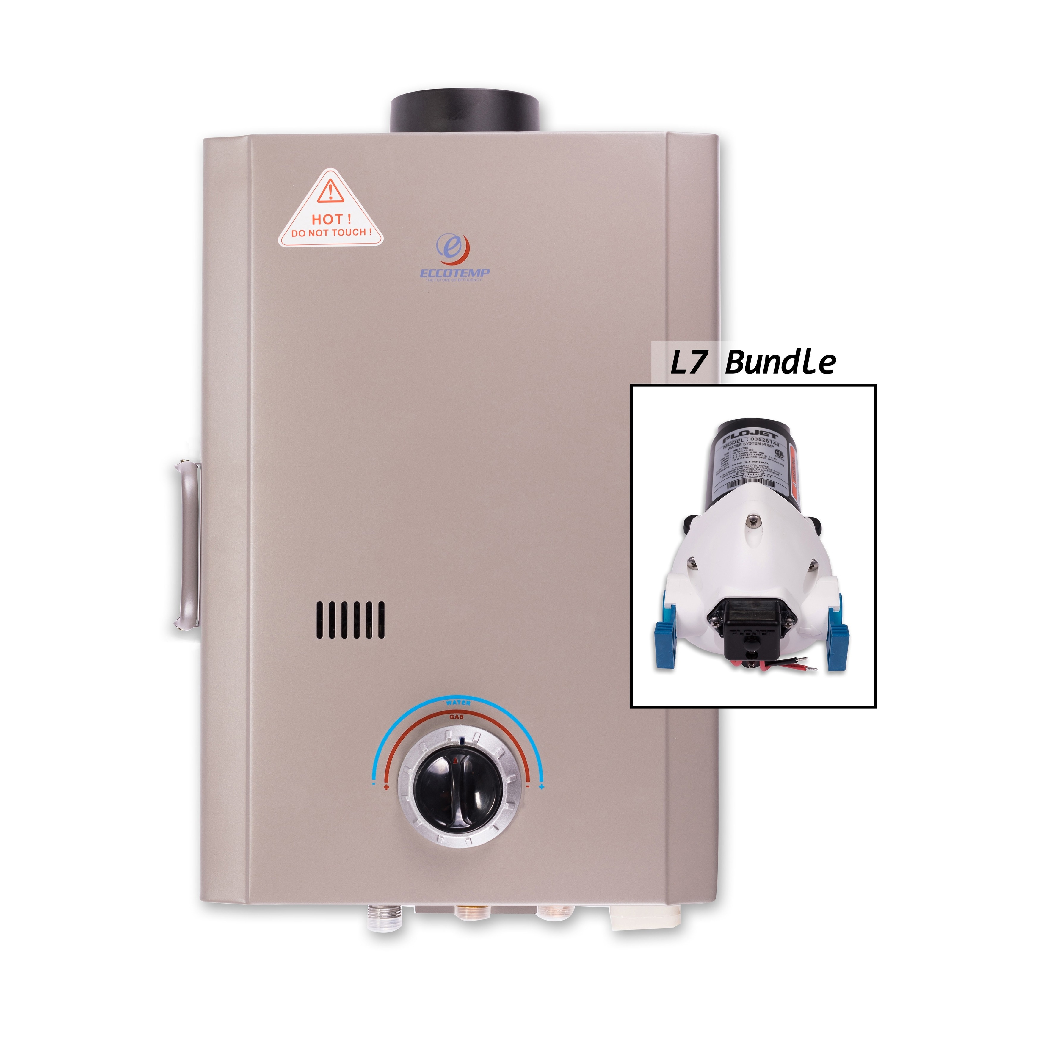 Eccotemp L7 Tankless Water Heater with Flojet Pump (White...