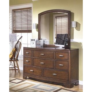 Signature Design by Ashley Alea Medium Brown Dresser and Mirror