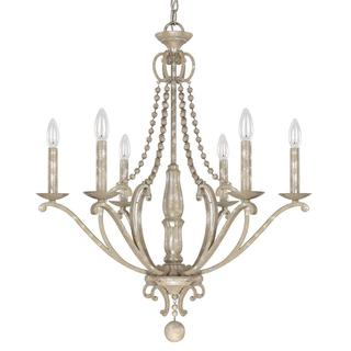 Capital Lighting Adele Collection Silver Tone Quartz 6-light Chandelier