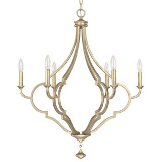 Capital Lighting Quinn Collection 6-light Brushed Gold Tone Chandelier